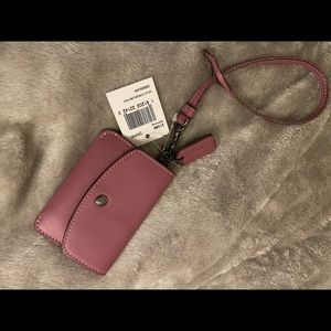 Coach Glovetanned Leather Card Pouch Wristlet